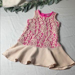 Baker by Ted Baker toddler girl lace peplum dress
